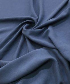 İndigo Mavisi Taşlanmış Koton Kumaş
