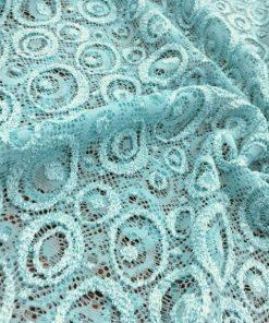 Açık Mavi Dantel Kumaş