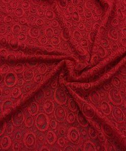 Dantel Kırmızı Abiyelik Kumaş