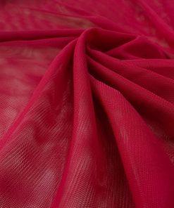 Kırmızı Likra Tül Kumaş