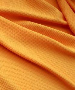 Orange Dokulu Krep Kumaş