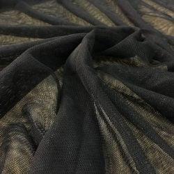 Siyah Likra Tül Kumaş