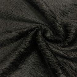 Siyah Peluş Kürk Kumaş