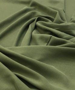 Yeşil Taşlanmış Koton Kumaş
