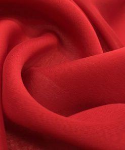 Kırmızı Janjanlı Şifon