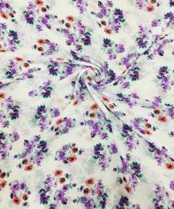 Çiçek Desenli Şifon S1ASL