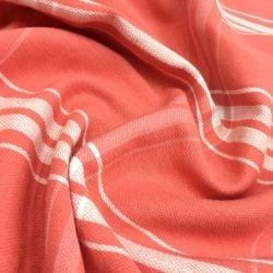 Turuncu Pamuk Ekose Desenli Kumaş
