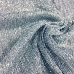 Simli Jarse Grimsi Mavi Abiyelik Kumaş