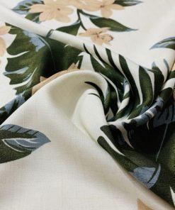 Palmiye Desenli İpeksi Viskon