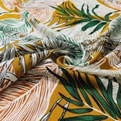 Palmiye Desenli Viskon İpeksi Doku