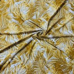 Palmiye Desenli Viskon Sarı