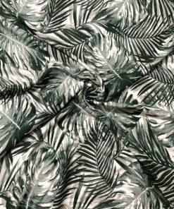 Palmiye Desenli Viskon Yeşil