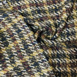 Sarı Çizgili Kazayağı Chanel Kumaş