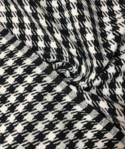 Yünlü Kazayağı Desenli Kumaşlar