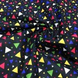Geometrik Desenli Poplin Siyah S1AYT