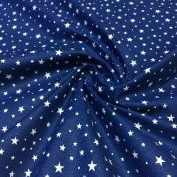 Yıldız Desenli Poplin Lacivert S1AYT
