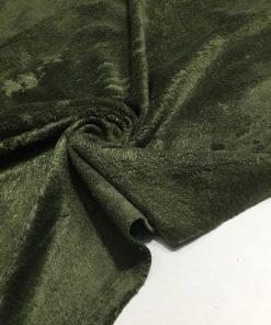 Peluş Haki Yeşil Kumaş