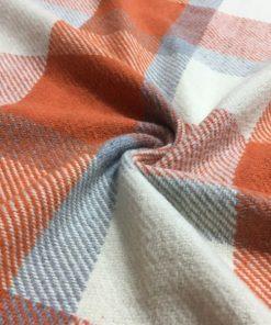 Yünlü Ekoseli Kumaş Orange