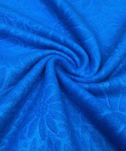 Çiçek Desenli Süper Polar Saks Mavi S1SRDN