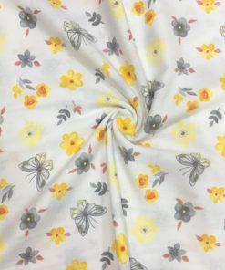 Çiften Çıtır Çiçek Desenli Pazen Sarı S1AYT