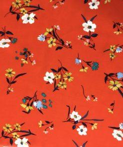 Çıtır Çiçek Desenli Maroken Viskon S1