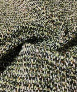 Fıstık Yeşili Simli Şanel Kumaş S1