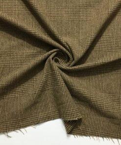 Kahverengi Yünlü Klasik Flanel Kumaş S1