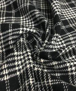Vintage Siyah Beyaz Yünlü Ekose MRY