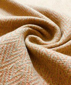 Somon Rengi Balıksırtı Kumaş S1