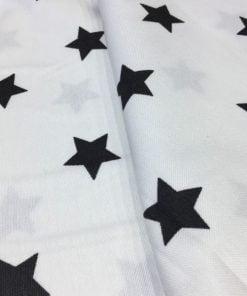 Yıldız Desenli Duck Keten Beyaz S1AYT