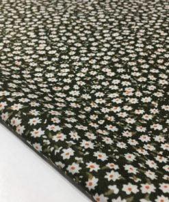 Çıtır Çiçek Desenli Viskon Kumaş Soft Yeşil S1