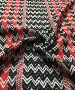 Kırmızı Siyah Missoni Triko Kumaş S1