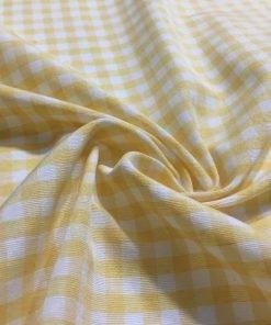 Sarı Pötikare Terikoton Kumaş S1