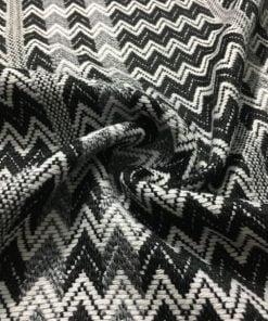 Siyah Beyaz Missoni Triko Kumaş S1