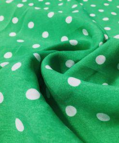 Yeşil Beyaz Puantiyeli Viskon S1