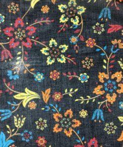 Mavi Sarı Çiçekli Tülbent S1