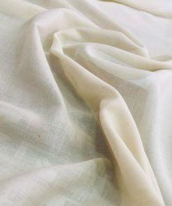 Kırık Beyaz Tülbent Kumaş S1