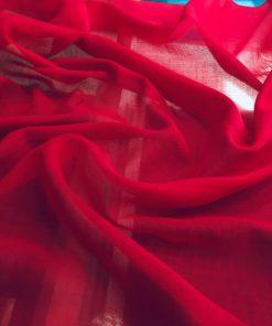 Koyu Kırmızı Tülbent Kumaş S1