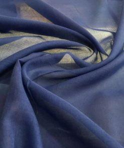 Koyu Mavi Tülbent Kumaş S1