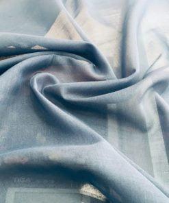 Açık Mavi Tülbent Kumaş S1