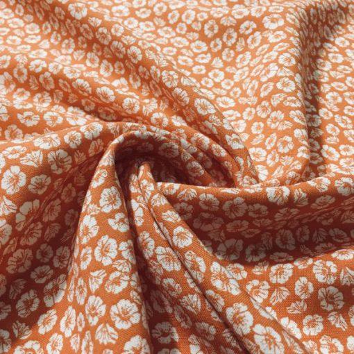 Çıtır Çiçek Desenli Viskon Orange S1