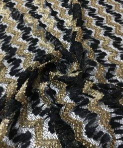 Missoni Kumaş Gold Siyah S1
