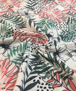 Palmiye Desenli Üç İplik Penye S1