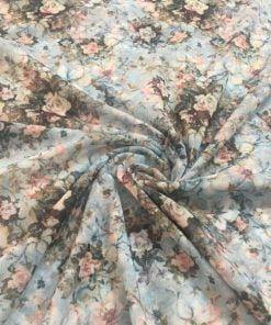 Soft Renk Desenli Tül Kumaş S1