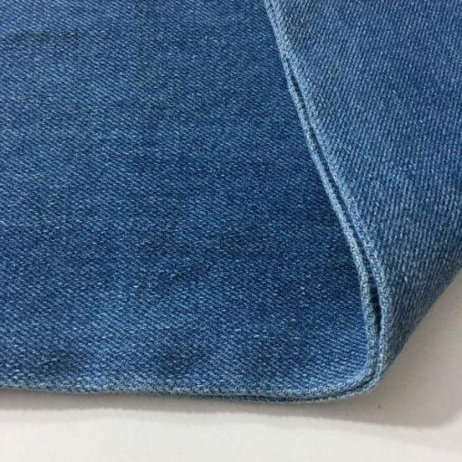 Açık Kot Mavisi Taşlanmış Kot Kumaş S1