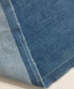 Açık Mavi Taşlanmış Kot Kumaş S1