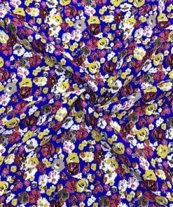 Çiçek Desenli Viskon Mor MHRS1