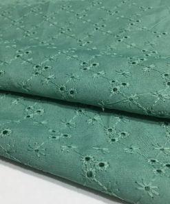 Minik Desenli Fisto Kumaş Koyu Yeşil S1
