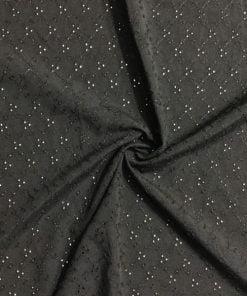 Minik Desenli Fisto Kumaş Siyah S1