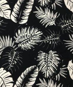 Siyah Beyaz Palmiyeli Viskon S1